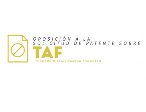 Fundación GEP presenta nueva oposición a patente sobre TAF