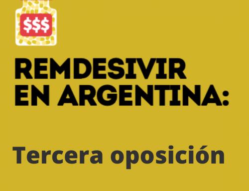 Remdesivir en Argentina: GEP presentó una nueva oposición a patente para contribuir con la disponibilidad y el acceso en en país